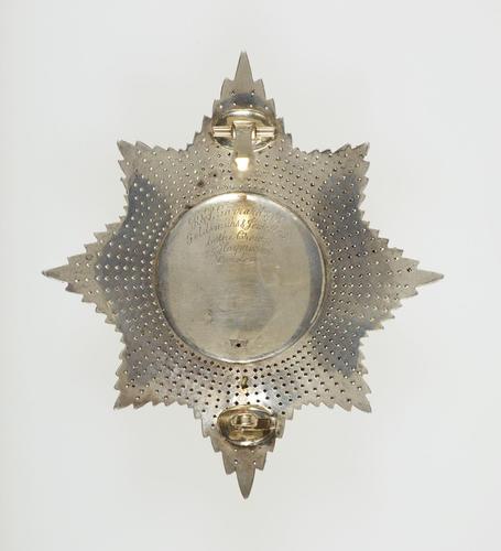 Emperor Alexander II of Russia's star of the Order of the Garter