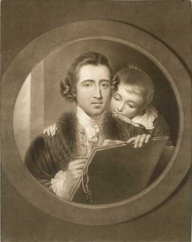 Benjamin West with his son Raphael