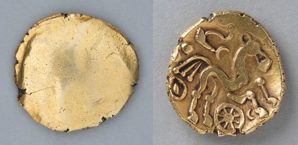 Great Britain, celtic plated gold stater, British 'Remic' type, c. 50 B. C
