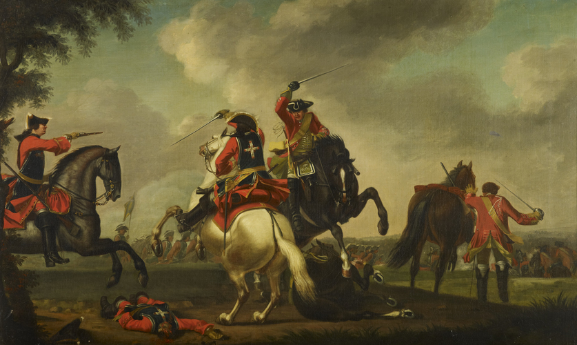 A Skirmish between English and French Cavalry