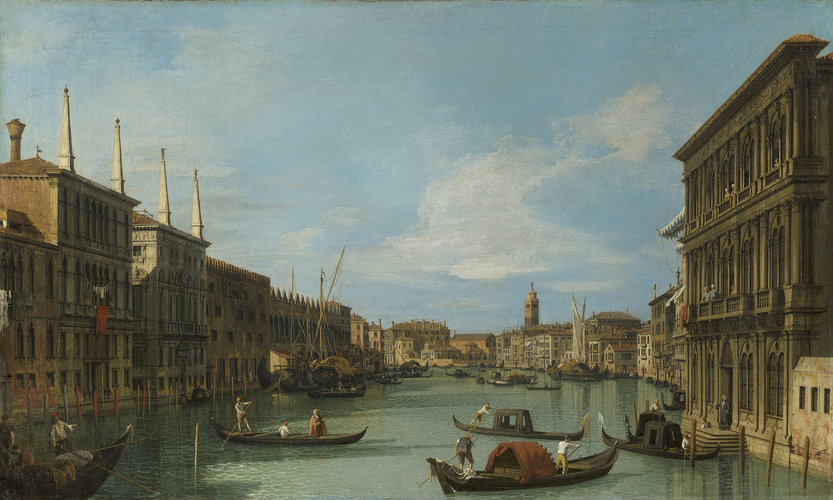 The Grand Canal looking West from Palazzo Vendramin-Calergi towards San Geremia
