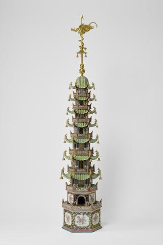 Pair of small pagodas