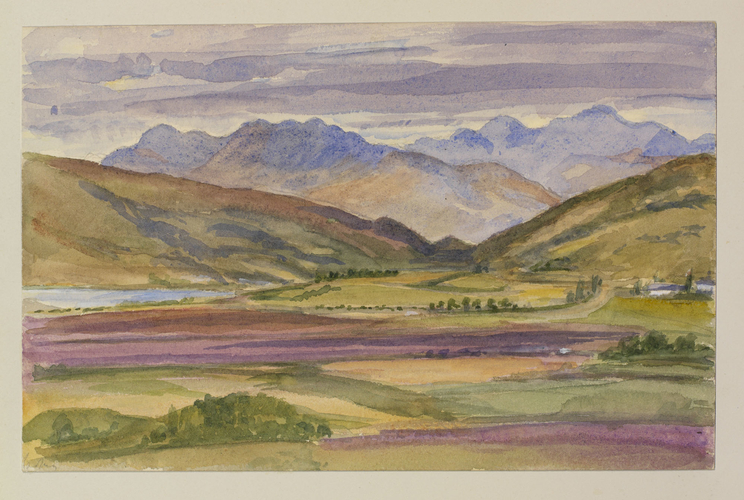 Master: SKETCHES BY QUEEN VICTORIA II Item: A valley and mountains