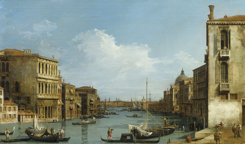 The Grand Canal looking East from Campo San Vio towards the Bacino
