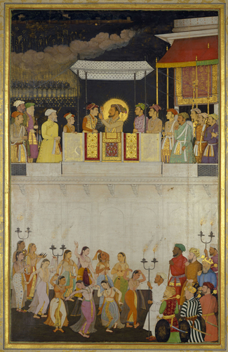 Master: The Padshahnama Item: Shah-Jahan honouring Prince Dara-Shikoh at his wedding (12 February 1633)