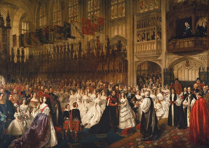 The Marriage of Albert Edward, Prince of Wales (1841-1901), later Edward VII, with Princess Alexandra of Denmark (1844-1925) St George's Chapel, Windsor, 10 March 1863