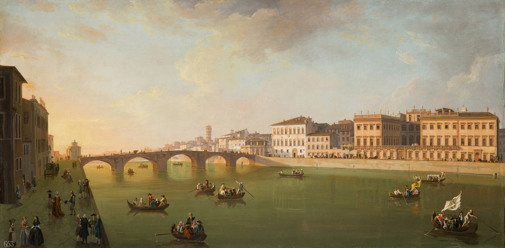 A View of the Arno in Florence by Day