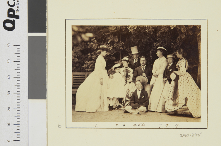 The nine children of Queen Victoria and the Prince Consort at the Rosenau, Coburg, 1865 [in Portraits of Royal Children Vol. 9 1865]