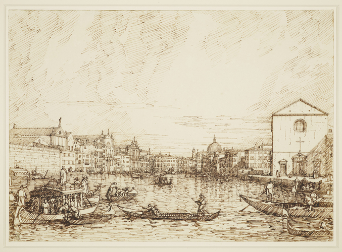 Venice: The Grand Canal, looking east from the Fondamenta delle Croce