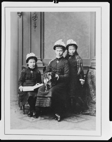 Princess Victoria, Princess Sophie, and Princess Margaret of Prussia, 1879 [in Portraits of Royal Children Vol. 25 1879-80]