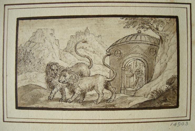 Hippomenes and Atalanta transformed into lions