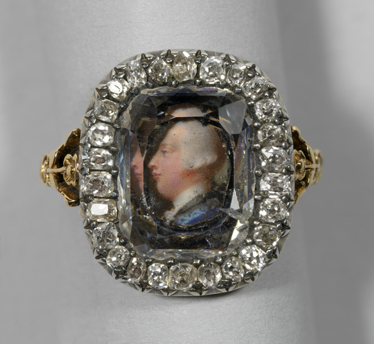 Ring with a miniature of George III