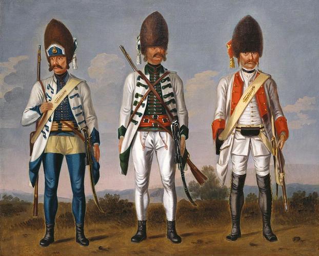 Grenadiers, Hungarian Infantry Regiments 'Haller', 'Bethlen' and an Unidentified Infantry Regiment