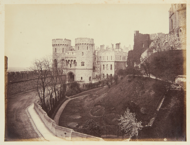 Windsor Castle, Norman Gate and Moat Garden