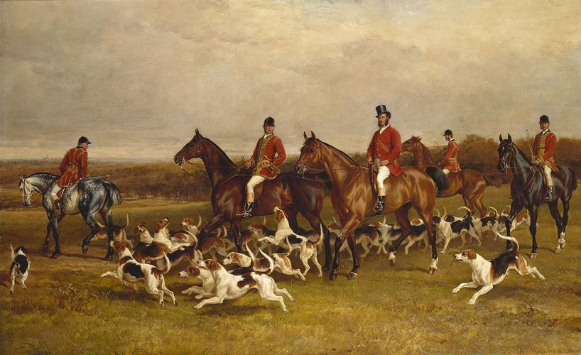 Her Majesty's Buckhounds with the Earl of Hardwicke, Huntsmen and Whips
