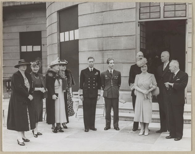 King George VI entertains members of the Royal families and Heads of governments of the Allied Countries