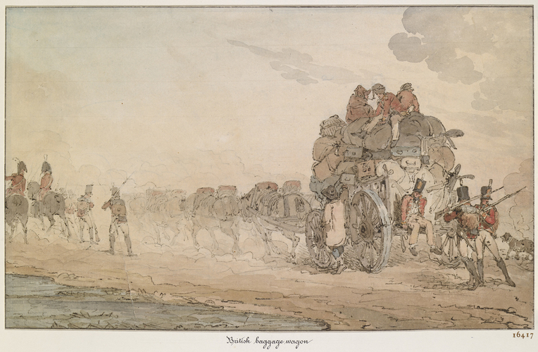 Baggage wagon. 	About 1805