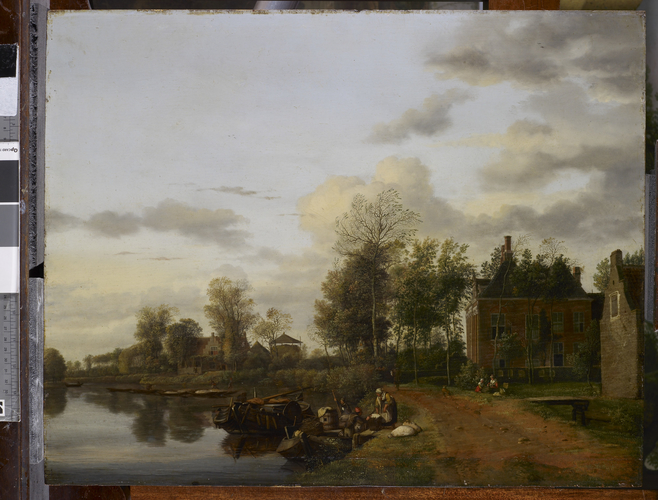 A Country House on the Vliet near Delft