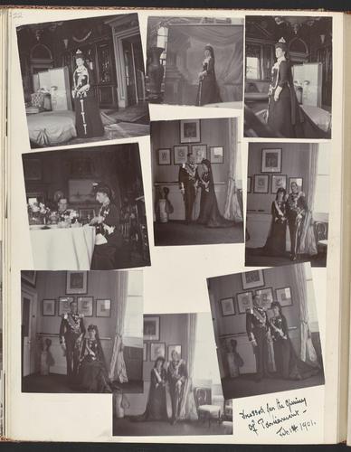 Photographs of Queen Alexandra, and Princess Maud, February 1901