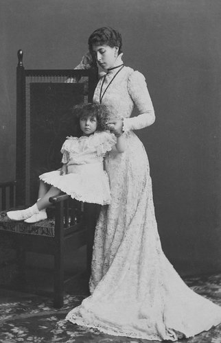 The Grand Duchess of Hesse and her daughter, Princess Elizabeth, 1898 [in Portraits of Royal Children Vol. 44 1897-1899]