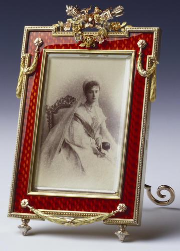 Frame with a photograph of Tsarina Alexandra Feodorovna