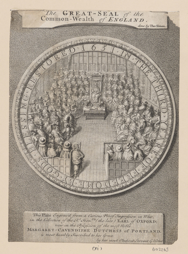 Insignia pin de Oliver Cromwell