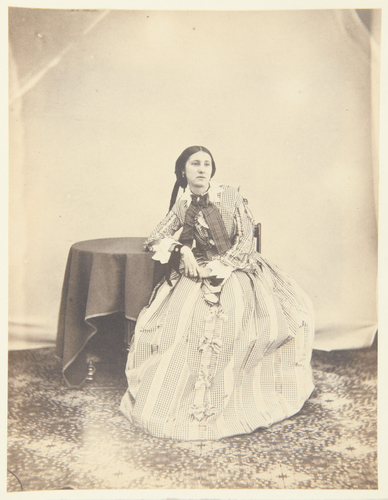 The Hon. Emily Cathcart, Jan 1855 [Photographic Portraits. Vol 1/59 (1853-1857)]