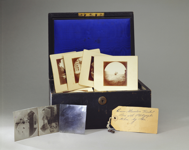 Queen Alexandra's Trinket Box containing prints and negatives, c. 1891