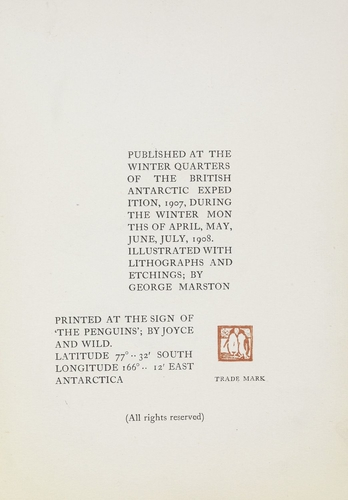 Aurora Australis, 1908-09 / published at the Winter Quarters of the British Antartic Expedition, 1907