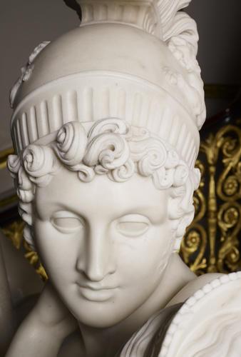 Ares mars god of war alabaster statue sculpture figure handmade