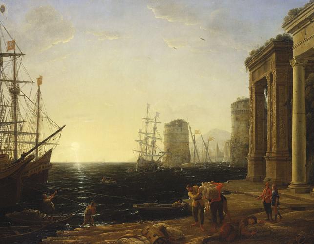Harbour Scene at Sunset