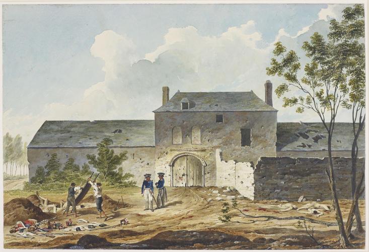 Denis Dighton 1792 1827 Château De Hougoumont Field Of