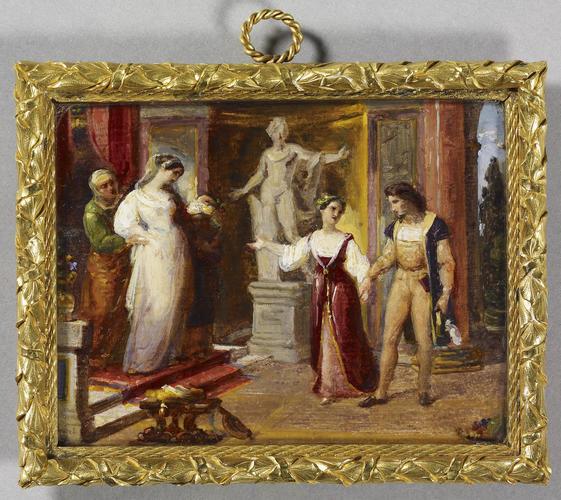 Scene from Goethe?s Torquato Tasso: the meeting of Tasso and Leonora d?Este