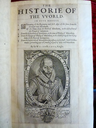 The Historie of the World in five books . . . / Sir Walter Raleigh