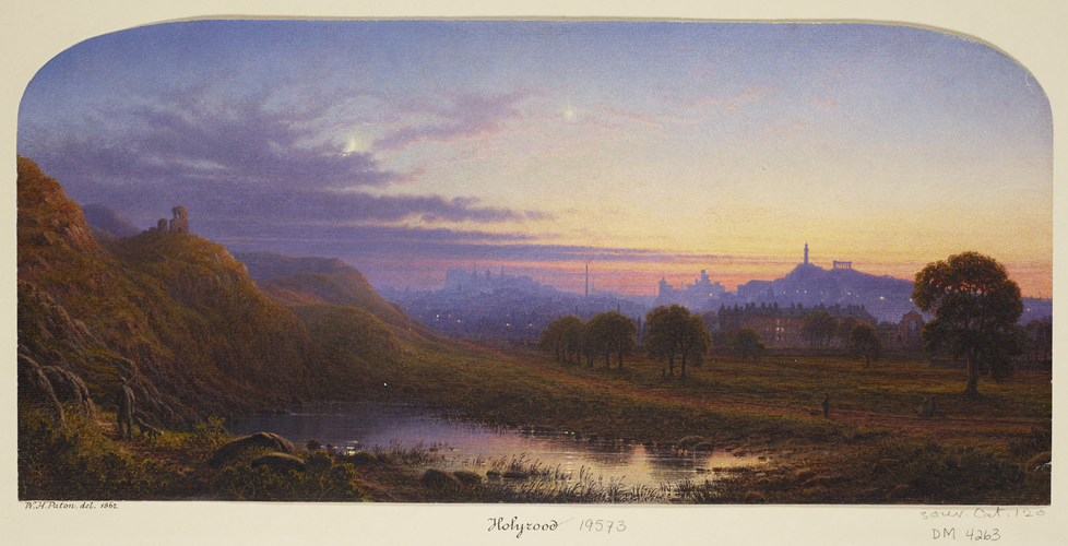 Edinburgh with a distant view of the Palace of Holyroodhouse
