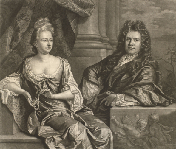 Grinling Gibbons and his wife Elizabeth