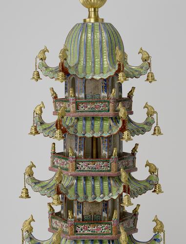 Pair of porcelain pagodas