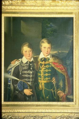 Princes Ferdinand (1816-85) and Augustus (1818-81) of Saxe-Coburg and Gotha when children