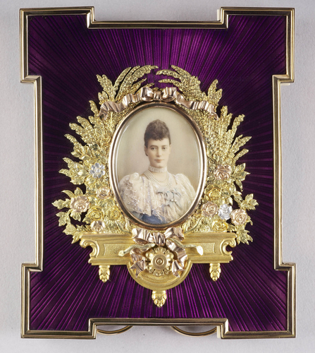 Frame with a portrait miniature of Tsarina Marie Feodorovna