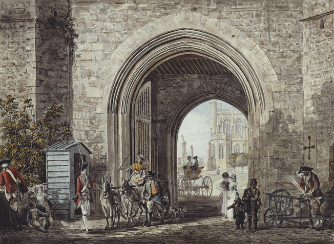 The Henry VIII Gateway with a view of St George's Chapel