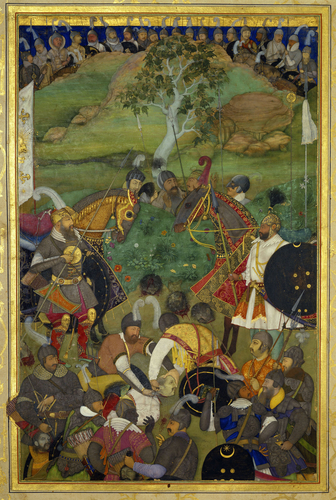 Master: The Padshahnama Item: The Death of Khan Jahan Lodi (3 February 1631)