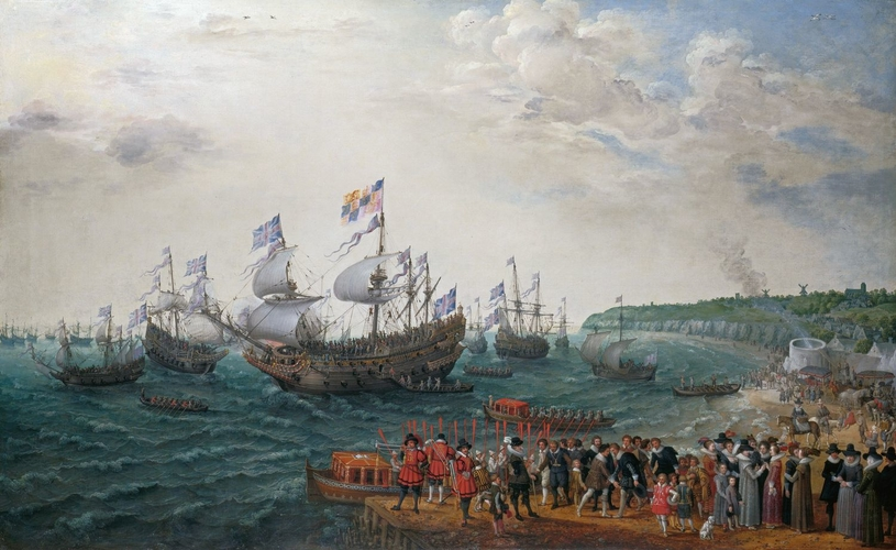 Embarkation at Margate of the Elector Palatine and Princess Elizabeth