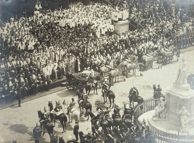 Queen Victoria's Diamond Jubilee Service in front of St Paul's Cathedral, 22 June 1897