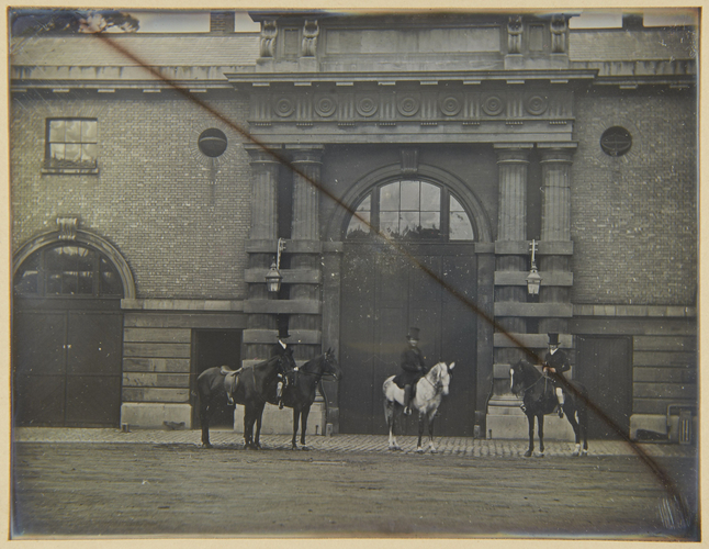 Zohrab and other horses of the Princes, taken at the Royal Mews, Buckingham Palace, 1848
