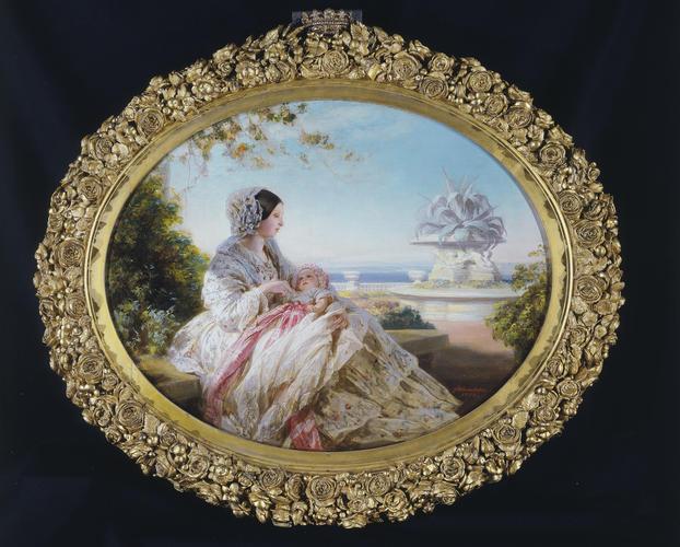 Frame for RCIN 405963, Winterhalter, Queen Victoria with Prince Arthur