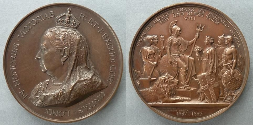 Frank Bowcher (1864-1938) - Medal commemorating the Diamond