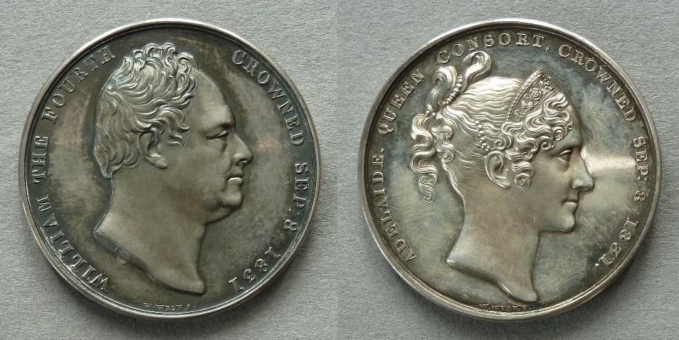 Medal commemorating the Coronation of William IV