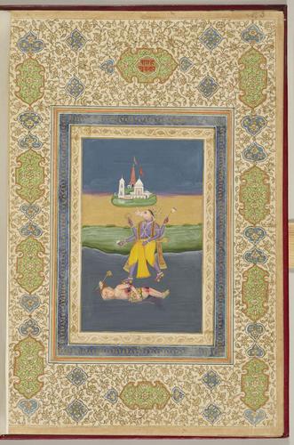 Master: Ten incarnations of the Hindoo god Vishnu. Item: Varaha, the third incarnation of Vishnu