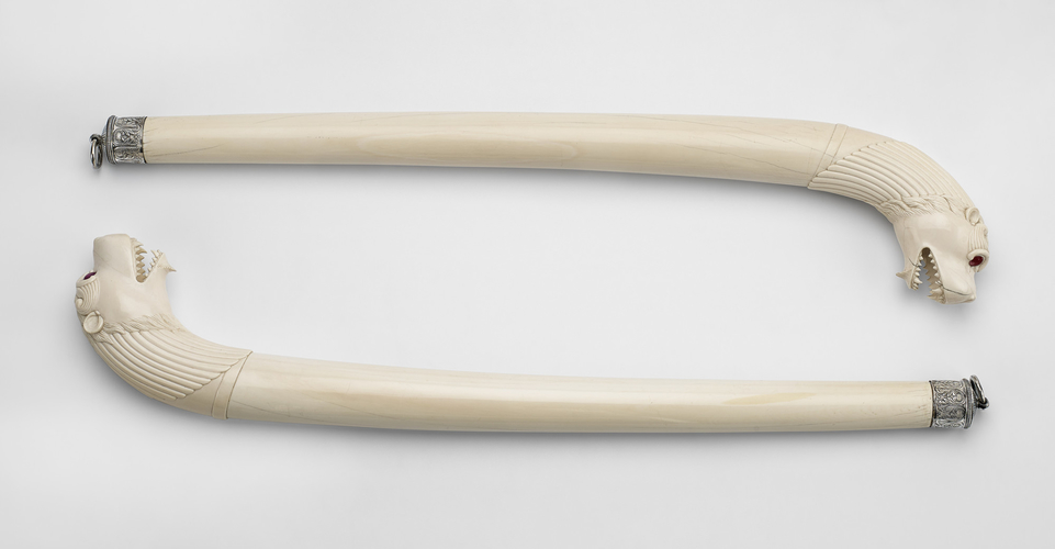 Master: Pair of ceremonial staffs