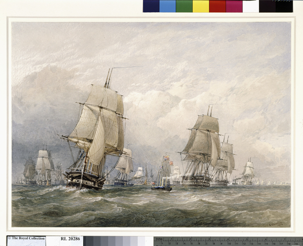 The fleet sailing from Spithead, 11 March 1854